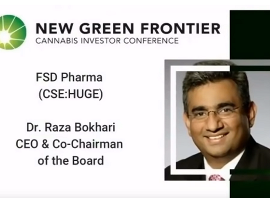Raza Bokhari at New Green Frontier Cannabis Investor Conference